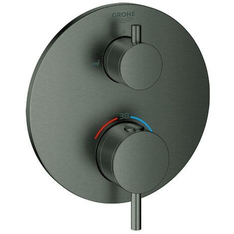 Grohe THM-Wannenbatterie Atrio 24138 FMS f. 35600 2-Wege-Umst. hard graphite geb., 24138AL3