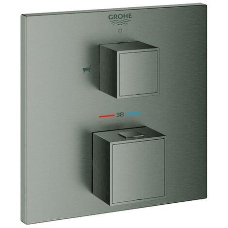 GROHE THM-Wannenbatterie Grohtherm Cube 24155 FMS für 35600 hard graphite gebürstet, 24155AL0