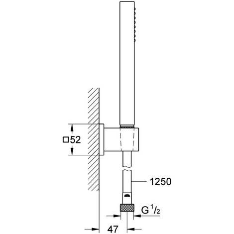 GROHE Wandhalterset Euphoria Cube Stick 27703 Durchfluss: 9,5 l/min chrom