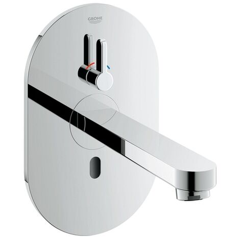 Grohe Waschtischarmatur Wand-IR-Elektronik Eurosmart CE 36412 Misch. Trafo Bluetooth-Modul chrom, 36412000