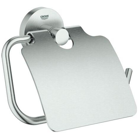 Grohe WC-Papierhalter Essentials 40367 Metall mit Deckel Supersteel