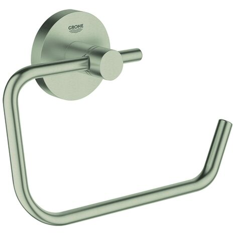 Grohe WC-Papierhalter Essentials 40689 ohne Deckel nickel gebürstet