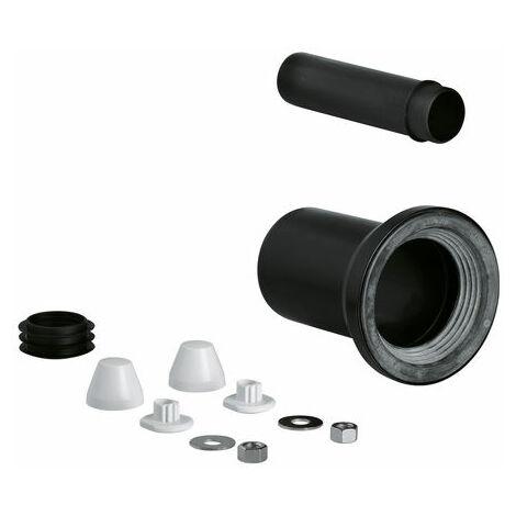 GROHE WC-Zu- und Ablaufgarnitur 37311für wandh. WC Ablaufmansch. 90mm schwarz