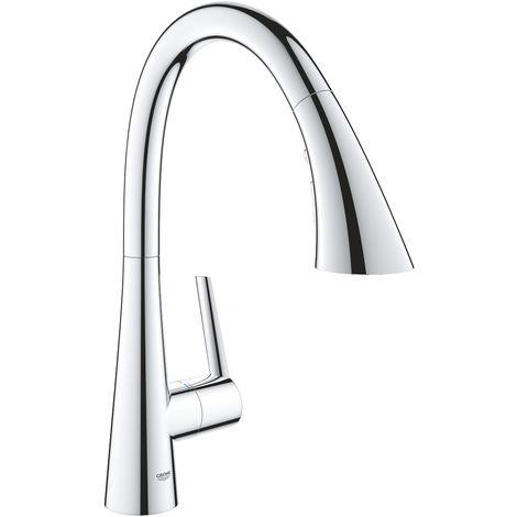 GROHE Zedra kitchen faucet, comfort rinsing spray
