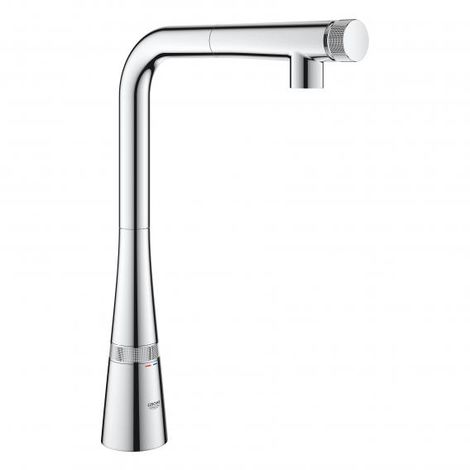 Grohe Zedra SmartControl sink mixer with SmartControl, spout with laminar jet