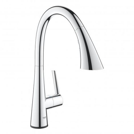 Grohe Zedra Touch Electronic one-hand sink mixer, pull-out rinsing spray,