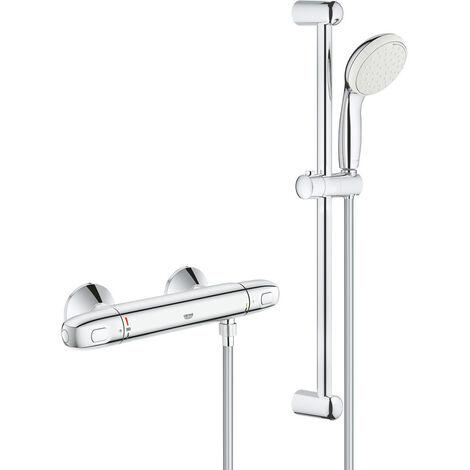 Grohtherm 1000 Mitigeur thermostatique douche 1/2'' avec ensemble de douche