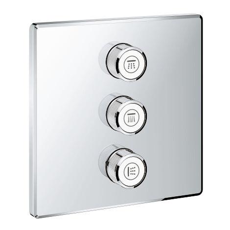 Grohtherm SmartControl Placa con triple llave de paso 29127000