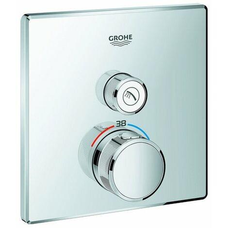 GrohTherm SmartControl Thermostat mit einem Absperrventil Fertigmontageset für Rapido SmartBox 35 600 000