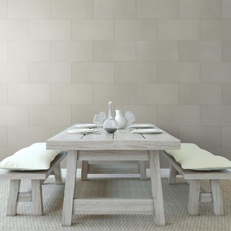Grosfillex Carreau revêtement mural Gx Wall+ 11 pcs 30x60cm Gris clair
