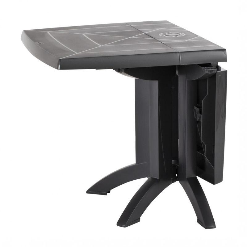 GROSFILLEX - TABLE VEGA 118x77x72 cm coloris anthracite - 52149002