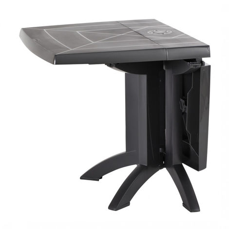 GROSFILLEX - TABLE VEGA 118x77x72 cm coloris anthracite - 52149002