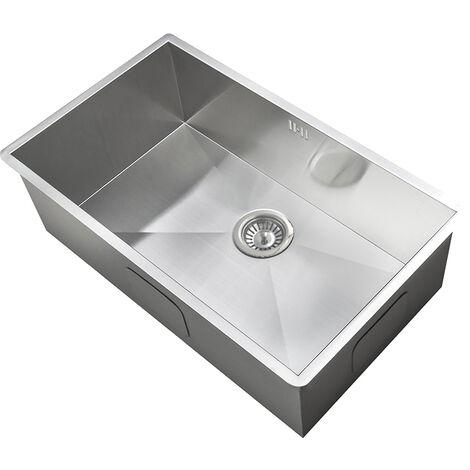 Groß 1cm Radius handgefertigtes eckiges Küche Spülbecken für Unterbau (DEDS017)