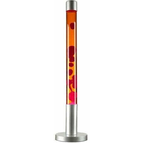 Große Lavalampe ALAN H:76cm Rot Orange Retro Design