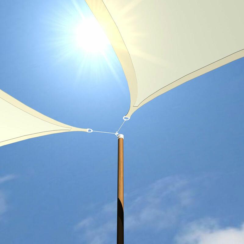 Großes Sonnensegel 4x3m Polyester Rechteck Wasserabweisend UPF50 UVSchutz Segel