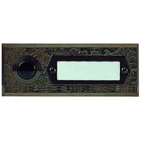 GROTHE Etagenplatte 1 Klingeltaster Bronzeguß max. 12V~/= (1,5 A) / min. 5V (0,001A)