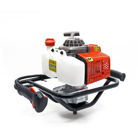 Ground Drill with 63cc, 3HP and 2.2kW, Petrol Post Drill for Precise Drilling Results