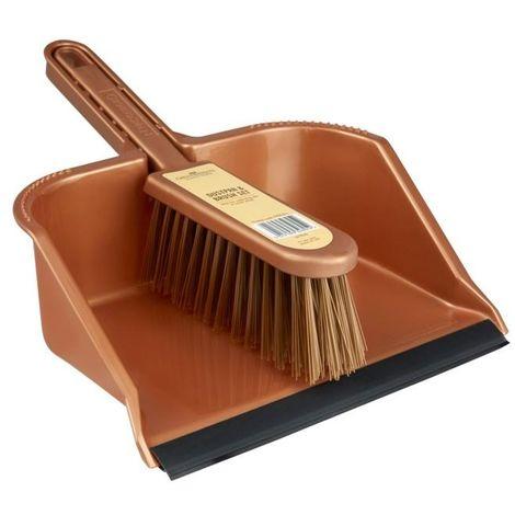Groundsman Dustpan and Brush Set (One Size) (Orange)
