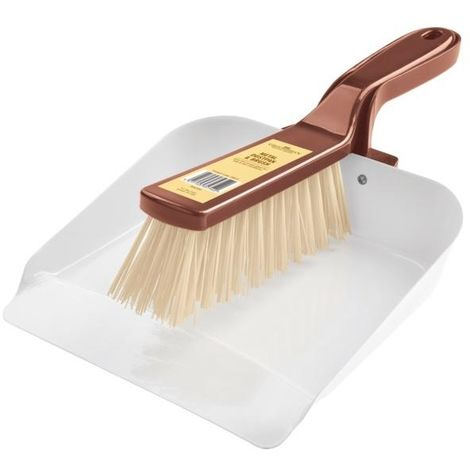 Groundsman Metal Dustpan And Brush Set (One Size) (White/Copper)