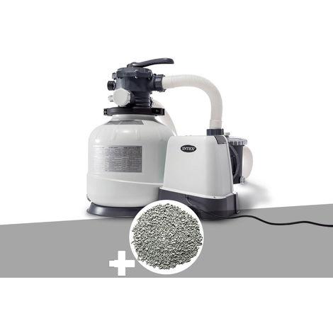 Groupe de filtration à sable 8 m³/h + 20 kg de zéolite - Intex