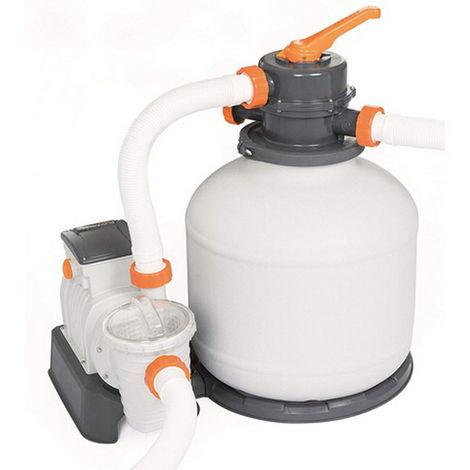 Groupe de filtration programmable piscine Bestway FLOWCLEAR 6m³/h vanne 6 voies