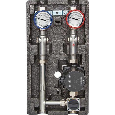 Groupe de montage type MK3 pour 1 circuit de chauffe réglé avec mélangeur à trois voies 1''