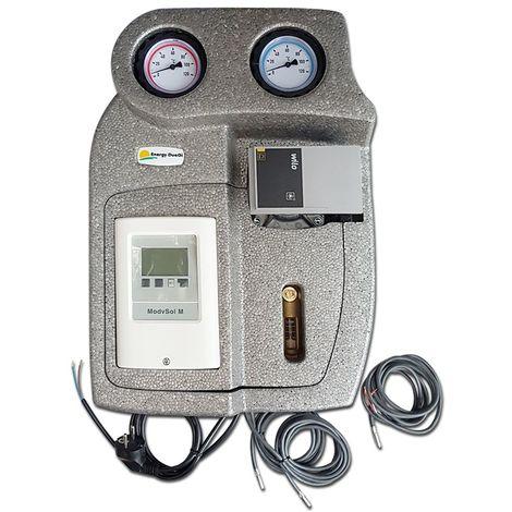 """Groupe de pompage solaire bidirectionnel, pour le système de vidange, 1""""M, débitmètre 2-12 l/min, circulateur à forte prévalence"""