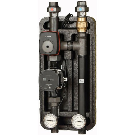 Groupe de pompe avec vanne mélangeuse à 3 voies ESBE KVS 2,5 servomoteur ARA et pompe Grundfos 25/7, Couche d'isolation