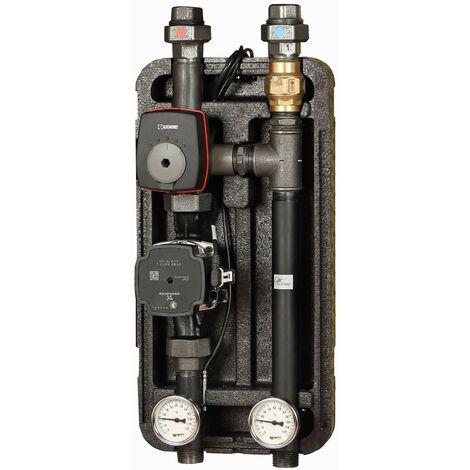 Groupe de pompe avec vanne mélangeuse à 3 voies ESBE KVS 4 et pompe Grundfos 25/7 Couche d'isolation