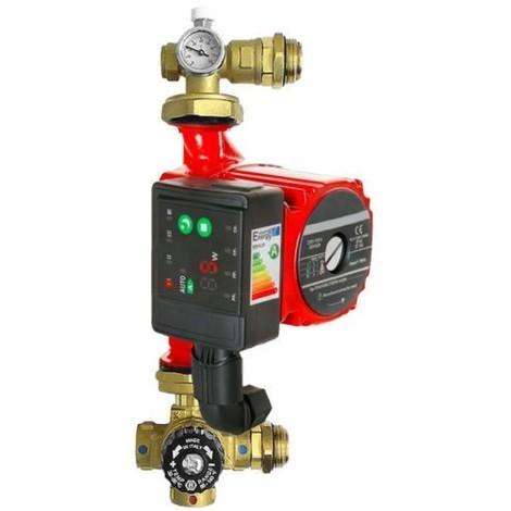 Groupe de pompe thermostatique à mélange 25 60 / 130 pour chauffage par le sol
