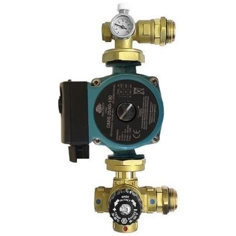 Groupe de pompe thermostatique à mélange 25-60/130 pour chauffage par le sol