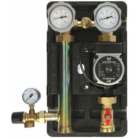 """Groupe de raccord pompe à chaleur 1"""" avec pompe Grundfos UPS 25-60 45510.2"""