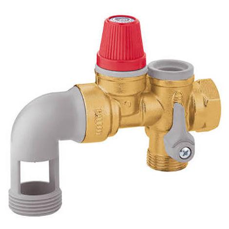 Groupe de sécurité coudé NF 3/4 526150 pour chauffe-eau électrique
