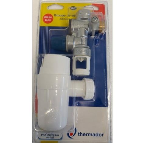 "Groupe de sécurité horizontal 3/4"" siège inox + siphon - Thermador BGSI"