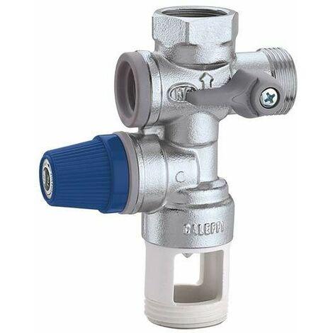 Groupe de sécurité pour chauffe-eau à accumulation Caleffi 526142-526152