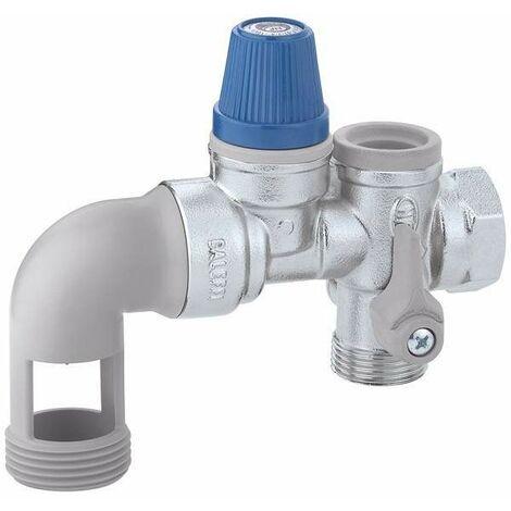Groupe de sécurité pour chauffe-eau avec vanne CALEFFI 5261