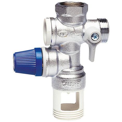 Groupe de sécurité pour chauffe-eau avec vanne CALEFFI 526142