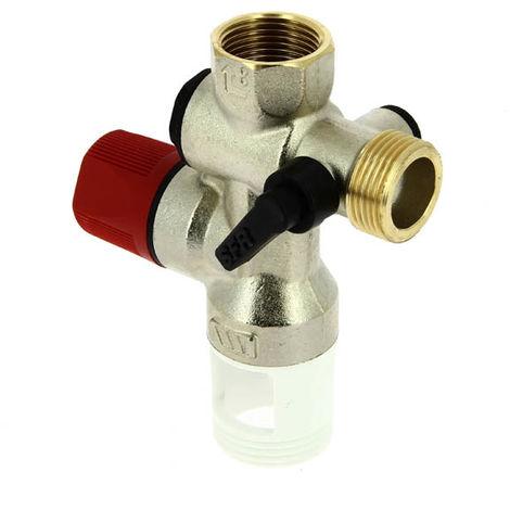 Groupe de sécurité WATTS laiton chrome NF-ACS droit siege standard-3/4