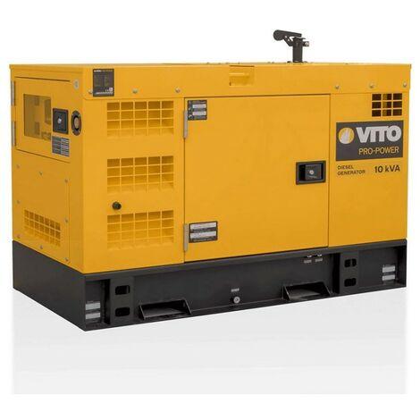 "main image of ""Groupe électrogène 10KVA MONO et TRIPHASE 8KW VITO ProPower Diesel 400V AC 50Hz/230V AC Silencieux"""