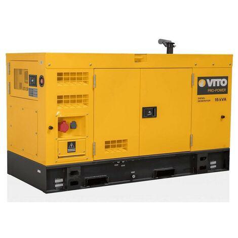 "main image of ""Groupe électrogène 15KVA MONO et TRIPHASE 12KW VITO ProPower 400V AC 50Hz/230V AC Silencieux DIESEL"""