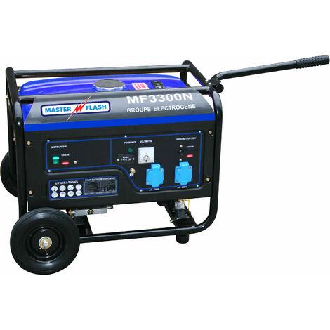 Groupe Electrogène 3300 W essence 4 temps Master Flash