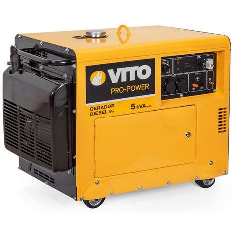 """main image of """"Groupe électrogène 5 KVA VITO Pro Power 4500W 416 CM3 - 9PS Monophasé DIESEL Silencieux 14.5 litres E STARTER"""""""