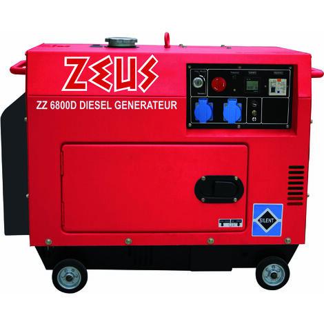 Groupe Electrogène 5000 W Diesel silencieux Zeuz