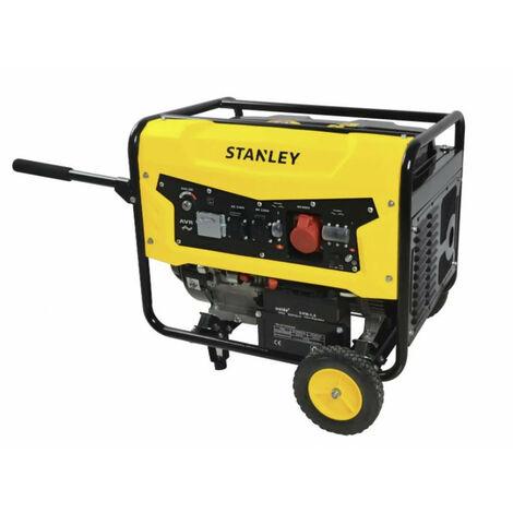 Groupe électrogène STANLEY 13CV 4T Essence SG5600- 389 Cm3 AVR Régulateur de tension Autonomie 9 h