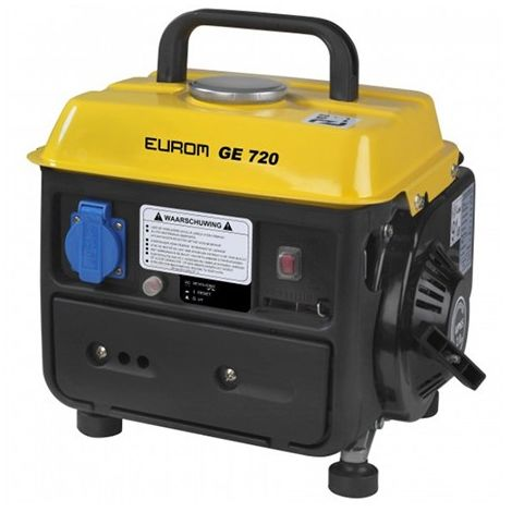 Groupe électrogène thermique 650W 1 x 230V moteur essence 2 temps 1600W - GE720 portable - 441611 - Eurom - -