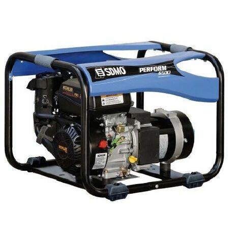 Groupe essence monophasé 6.5kW sur chassis moteur KOHLER, Perform 6500