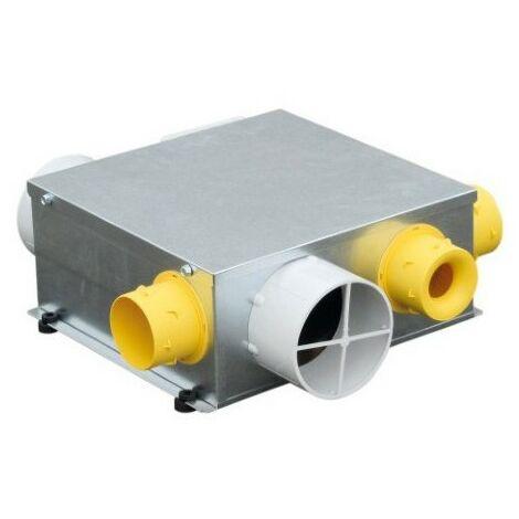 Groupe VMC Microgem ST N - Simple flux autoréglable - 3 sanitaires