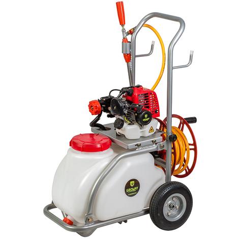 Groway GWBPAC30 - Carretilla pulverización de 26.3 cc, 30 Litros, 3-8 L/min, con enrollador