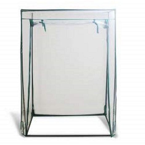 Growbag Growhouse with Clear Plastic Cover, 50x100x150 cm