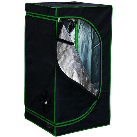 Growbox Invernadero 60x60x120 cm Tienda de plantas de interior Tienda de cultivo Gabinete de cultivo de cuarto oscuro Propagador Gabinete de cultivo de invernadero